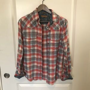 Tops - Pearl Snap Flannel Shirt